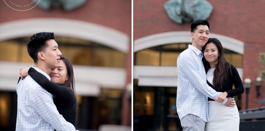 Sou & Ted | Engagement Session at Tufts University